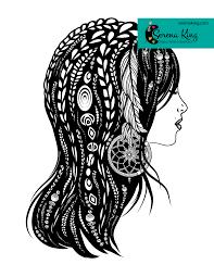 Bohemian Woman Coloring Page