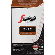 For coffees characterized by a rich aroma, a taste which you can choose to be delicate or intense, and by the unique creaminess of real espresso. Segafredo Zanetti Enzo Dark Roast Ground Coffee Pods 10 Ct Box Shop Matherne S Market