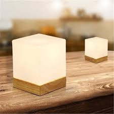 best creative ice cube small table lamp bedroom bedside european style table light modern minimalist solid wood desk lamp under 91 66 dhgate com