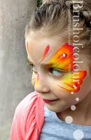 neon erfly face painting