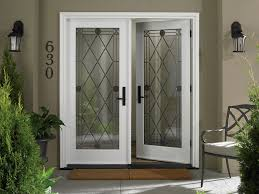 white double front door. Beautiful White Double Door Of Exterior Entrance Design With Excellent Iron Latticework. Front R