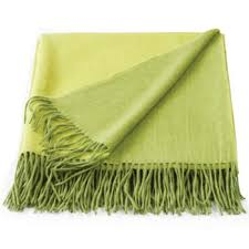 cashmere wool throw rug lime green 150