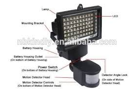 Bright Outdoor Solar Lights Motion Sensor Detector  No Battery Solar Powered Outdoor Security Light Motion Detection