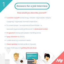 Answers For Job Interviews Tell Me About Yourself Myenglishteacher