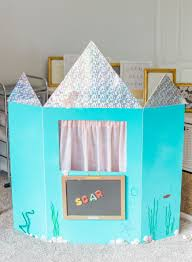 how to make a diy puppet theatre with a trifold foam poster board learning