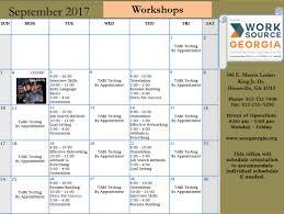 Worksource Coastal Sept Workshop Calendarsume Building Application