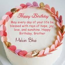 Online Birthday Cake For Brother Name Wishes Image Create Your Name