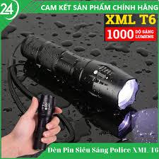 BẢO HÀNH 1 ĐỔI 1] Đèn Pin Siêu Sáng Chiếu Xa Police XML-T6 Có 5 Chế Độ  Chiếu Xa Trăm Mét