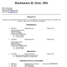 Registered Nurse Resume Template New Free Registered Nurse Resume