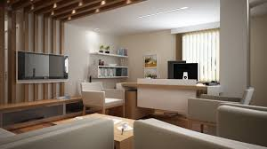 best modern office furniture. Best Modern Office With Living Space And Cream Furniture In 3D Picture .