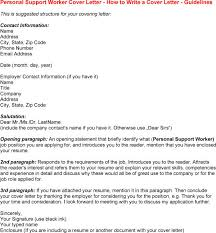 Best Solutions Of Cover Letter For Personal Support Worker Sample