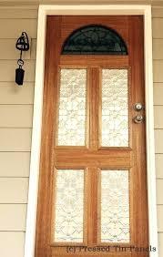 pressed tin panels original pattern decorative door glass panel inserts panelling