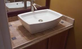 bathroom vanity tops sinks. vanity top tiled mounted sink youtube inside bathroom vanities with tops inspirations 8 sinks a