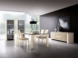 colorful modern dining room. Excelent Black Accent Wall Color Furnished With Painting Decoration Completed Dining Table And Chairs Colorful Modern Room A