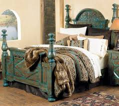 Turquoise bedroom furniture Turquoise Pink Rustic Chic Turquoise Decorating Carved Turquoise Bed Frame Home Décor Pinterest Bedroom Rustic Bedding And Bed Pinterest Rustic Chic Turquoise Decorating Carved Turquoise Bed Frame Home
