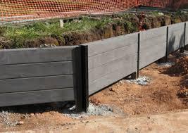 blackwood concrete sleeper retaining wall