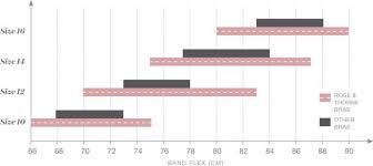 International Size Chart Band Size Cup Size