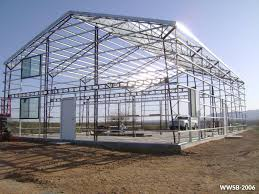 residential steel building kit during construction from worldwide steel buildings