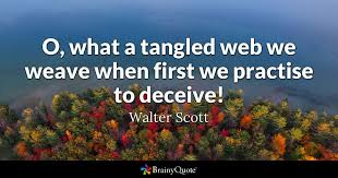 Walter Scott O What A Tangled Web We Weave When First