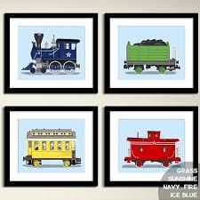 vintage train wall art transportation wall art prints