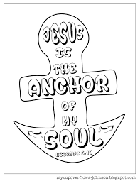 inspirational coloring s sunday school craft and vacation inside anchor