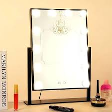 tabletop vanity mirror with lights makeup led bulbs professional dressing room lighted illuminated best lit uk