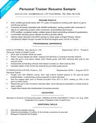 Personal Trainer Resume Classy Personal Trainer Resume Template Sample Writing Tips Companion