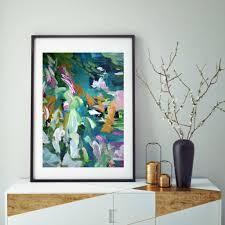 teal art prints decor large abstract wall art prints