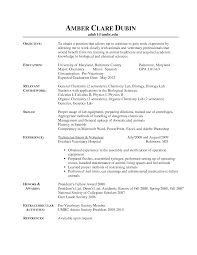 Resume Reception Resume