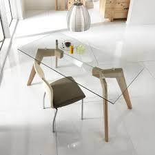 Moderner Tisch Aus Glas Und Holz Mdf Amos
