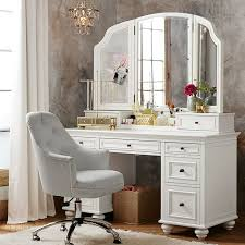 bedroom makeup vanity table set with mirror dresser pertaining to white designs 18