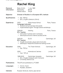 First Resume Sample Employment Resume Template