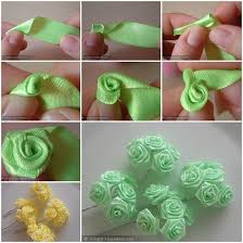 How To Make A Paper Ribbon Flower Making Ribbon Roses How To Make Mini Ribbon Roses Crafts Ribbon