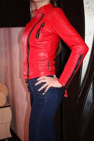 women faux leather jacket long sleeve pu coat red big size xs plus size xl motorcycle