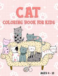 Select from 34561 printable crafts of cartoons, nature, animals, bible and many more. Cat Coloring Book For Kids 40 Cute Cat Kitty Coloring Pages Ages 4 10 Whale One Little 9798648447004 Amazon Com Books