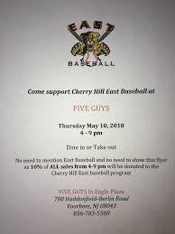 Blog Posts Cherry Hill East Cougars Baseball