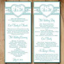 wedding reception program templates free download best wedding ceremony program templates products on wanelo