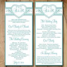 wedding reception program templates free download best wedding ceremony program templates products on wanelo