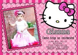 Hello Kitty First Birthday Party Invitations Invitation Card Online