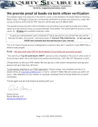 Best Photos Of Proof Of Funds Letter Chase Proof Of Funds Letter