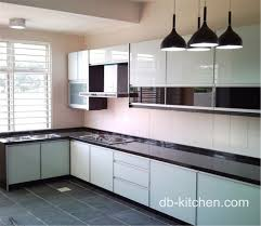 high gloss acrylic l shape kitchen cabinet