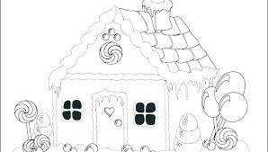 Printable Gingerbread House Coloring Pages Gingerbread House House