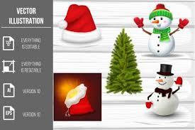 Christmas Elements Vector Clipart Graphic By Artnovi Creative Fabrica