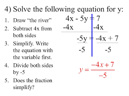 4 solve the following equation for y 4x 5y 7