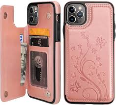 Amazon.com: Vaburs iPhone 11 Pro Max Case Wallet with Card Holder, Embossed  Butterfly Premium PU Leather Double Magnetic Buttons Flip Shockproof  Protective Cover for iPhone 11 Pro Max 6.5 Inch(Rose Gold)