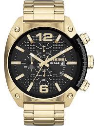 gold diesel overflow chronograph steel watch dz4342 men s gold diesel overflow chronograph steel watch dz4342