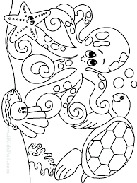 Sea Animal Coloring Pages Predragterziccom