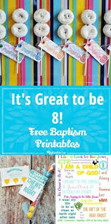 it s great to be 8 free printables baptism giftsbaptism ideaslds