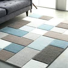 post teal geometric rug area rugs carpet gray modern large yellow