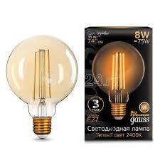 Купить <b>Лампа</b> светодиодная Black <b>Filament</b> G95 8Вт 2400К E27 ...